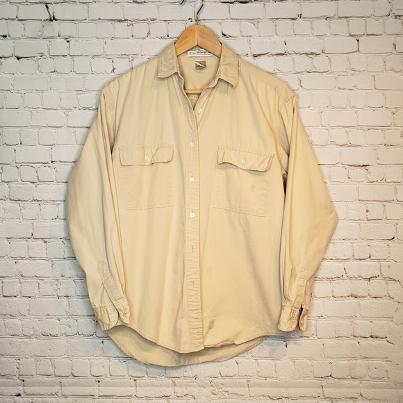 Gap Button down shirt tan S